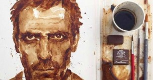 A 'coffee portrait' of Hugh Laurie (known to most for his role as Dr House in  American television medical drama 'House') went viral last week, just as Maria A. Aristidou was setting up for her first solo show in Limassol.
