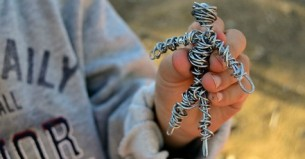 Somewhere amongst the overwhelming amount of refugees who have entered Europe, are a number of them who are accompanied by an 'imaginary friend', created during a workshop with local fine artist, Meletios Meletiou.